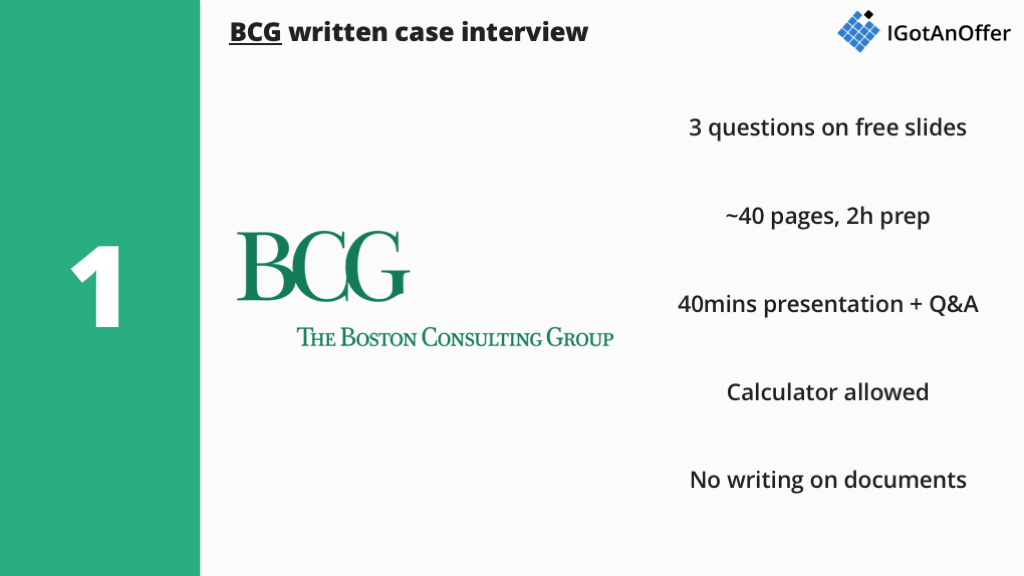 Written case interview - How to prepare? (2019) – IGotAnOffer