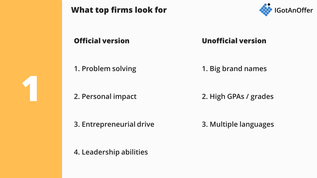 What Top Firms Look For In Consulting Resumes