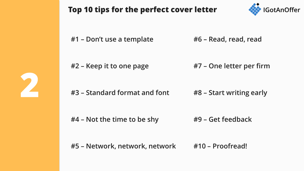 top 10 consulting cover letter writing tips
