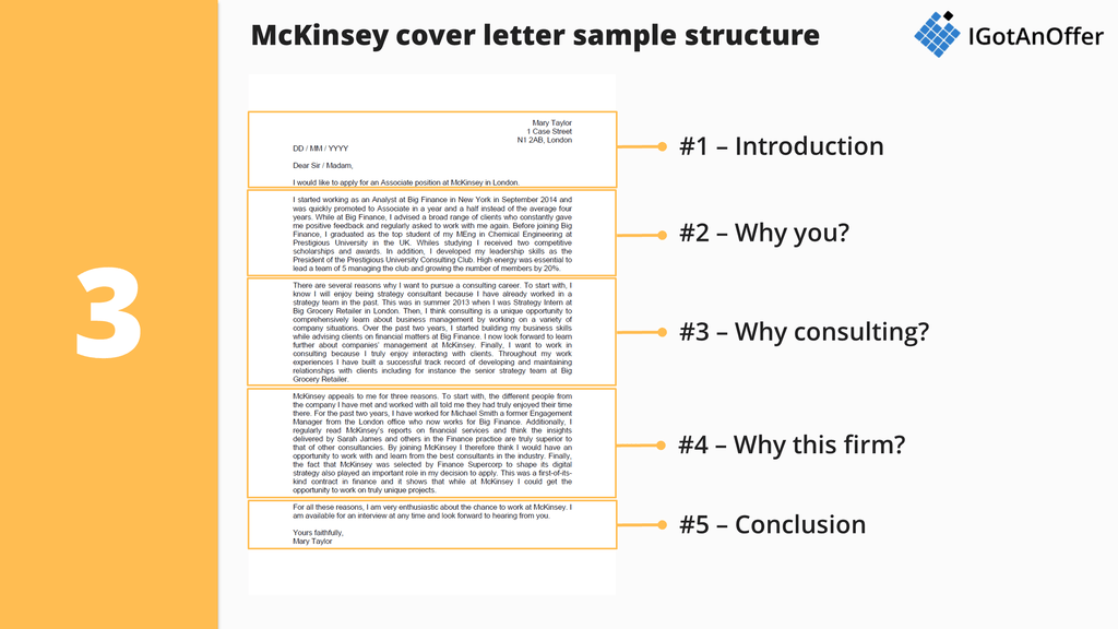 mckinsey cover letter sample - Cover Letter Formatting