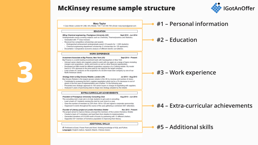 McKinsey resume s&le structure
