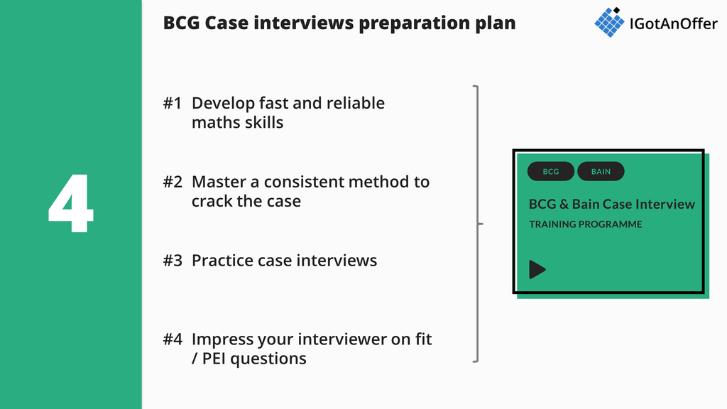 BCG Case Interview Preparation Plan