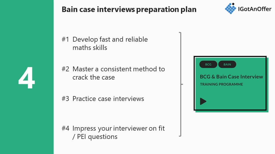 Bain case interview preparation plan