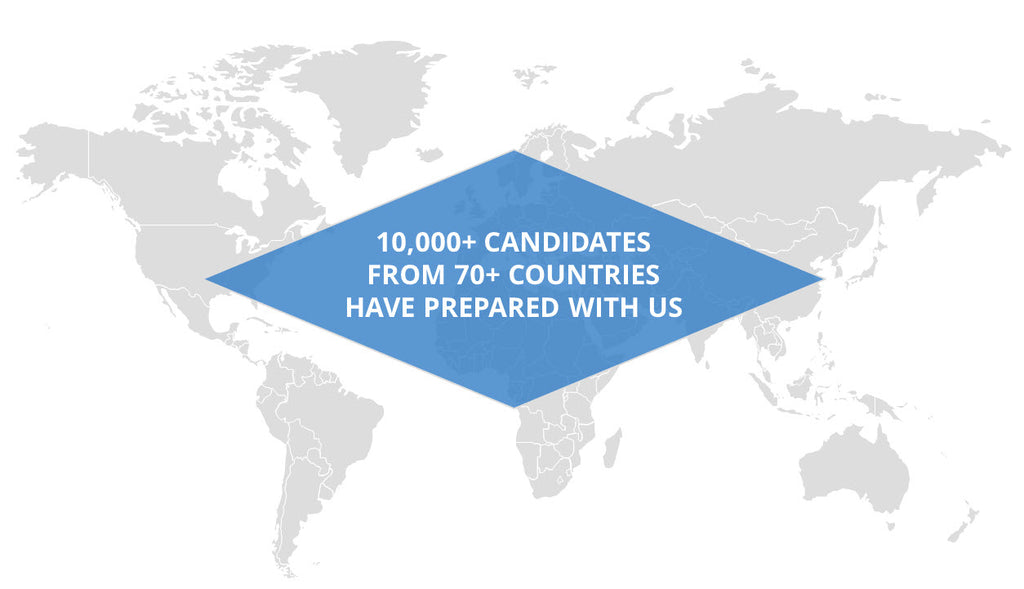 Map of the world with 10000 customers we have helped