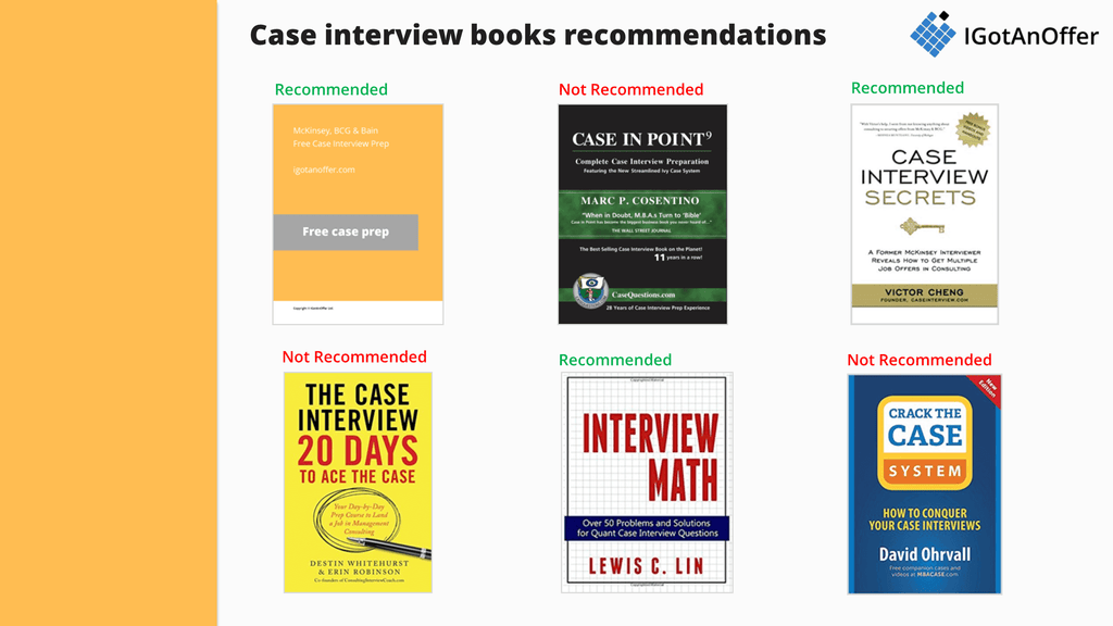 Case interview books recommendations