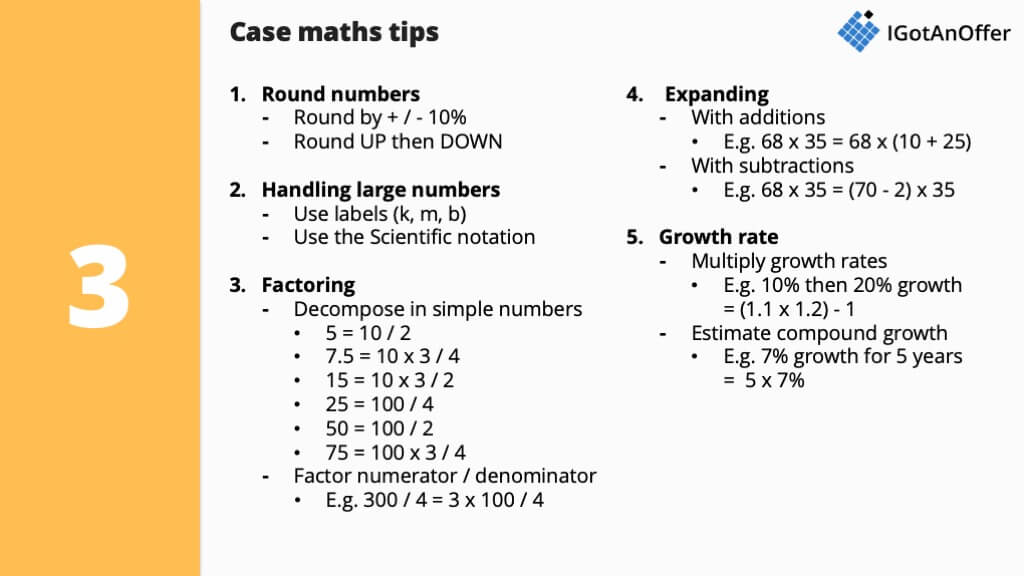 Case interview maths - Practice tools, formulas and tips – IGotAnOffer