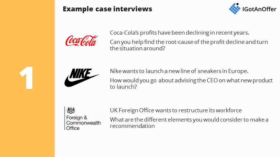 Nice Case Interview Examples