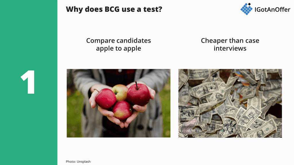 Why BCG uses the BCG Potential Test?