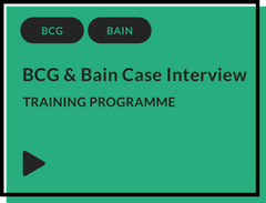 BCG & Bain case interview training programme