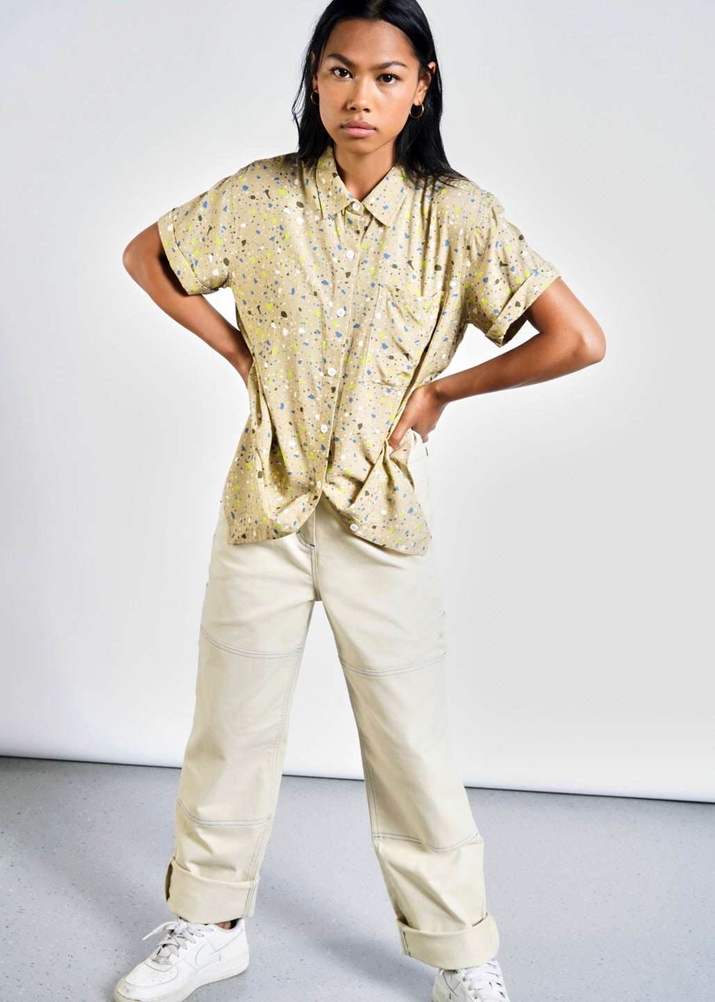 Ultimate Speckle SS Relaxed Button Up