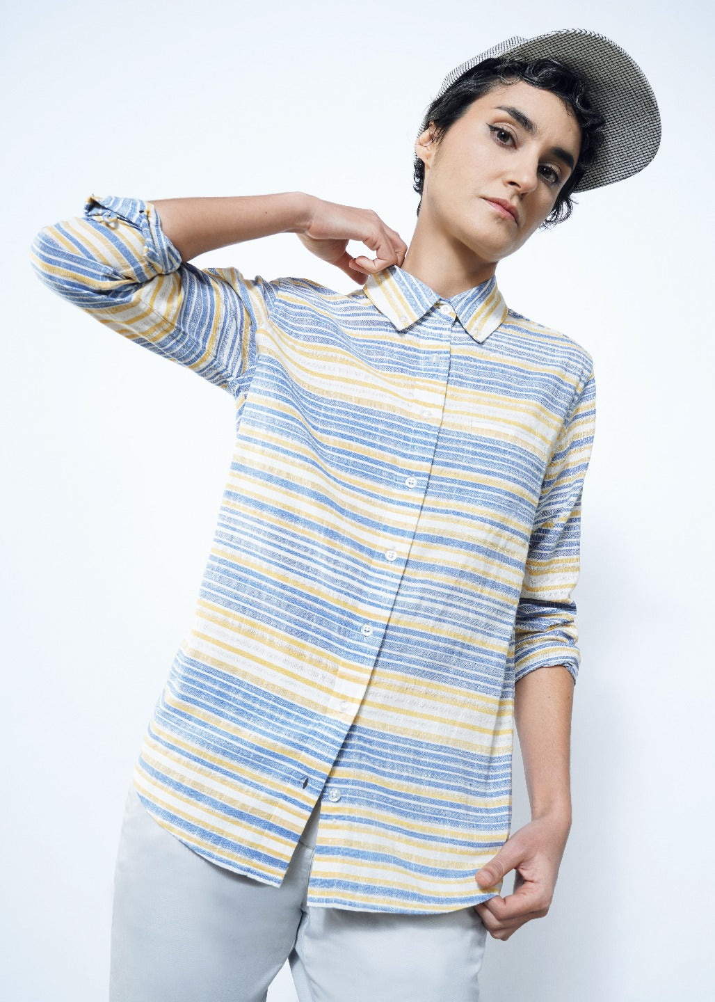 Ace Hampton Stripe LS Button Up