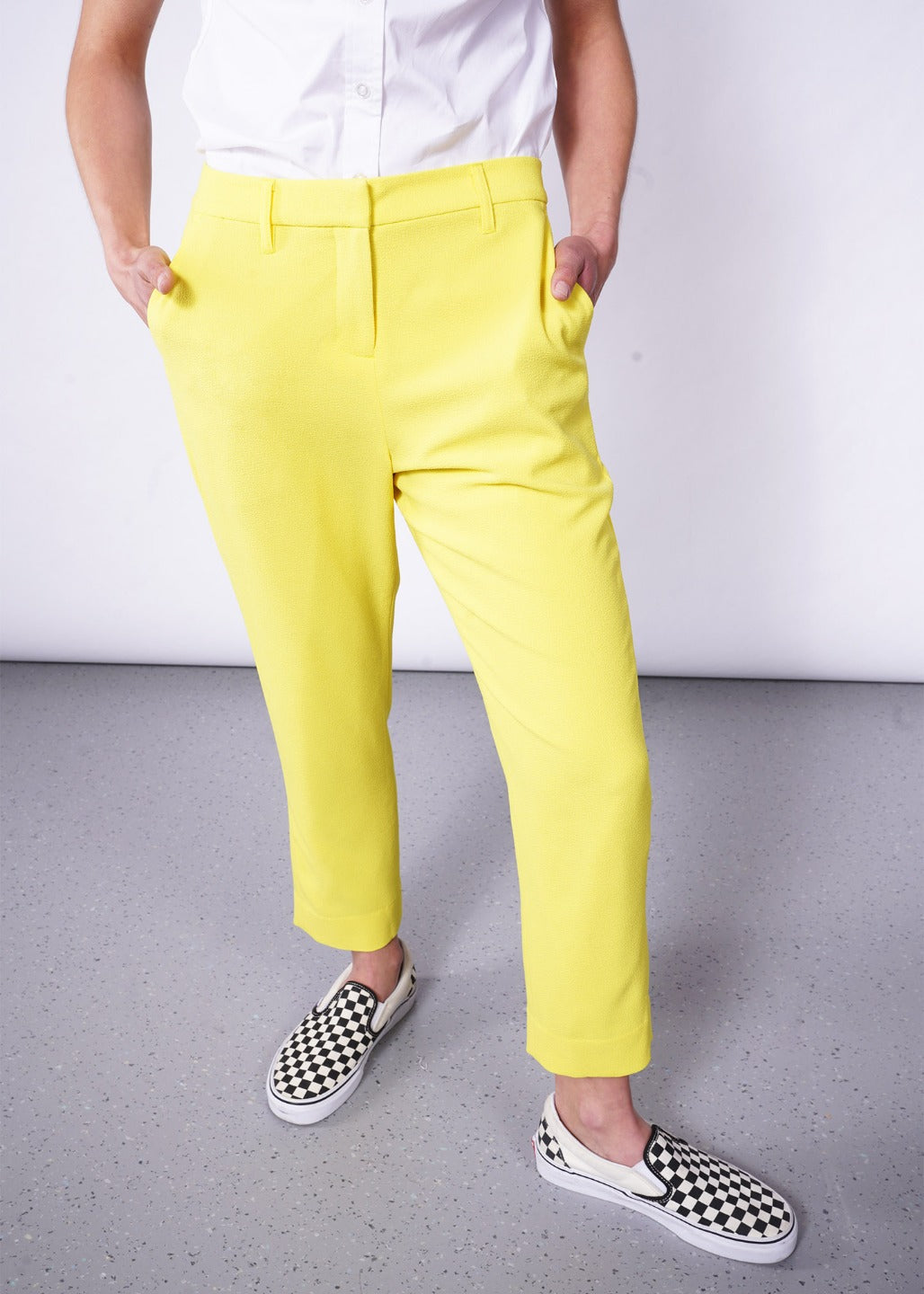 The Empower Crepe Slim Crop Pant