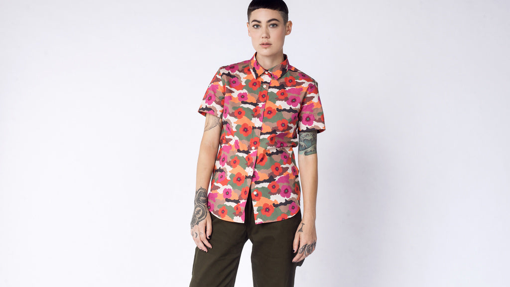 The Ultimate WF Floral Camo Button Up