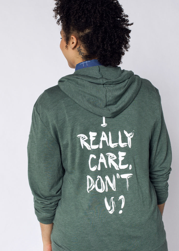 I really care hoodie