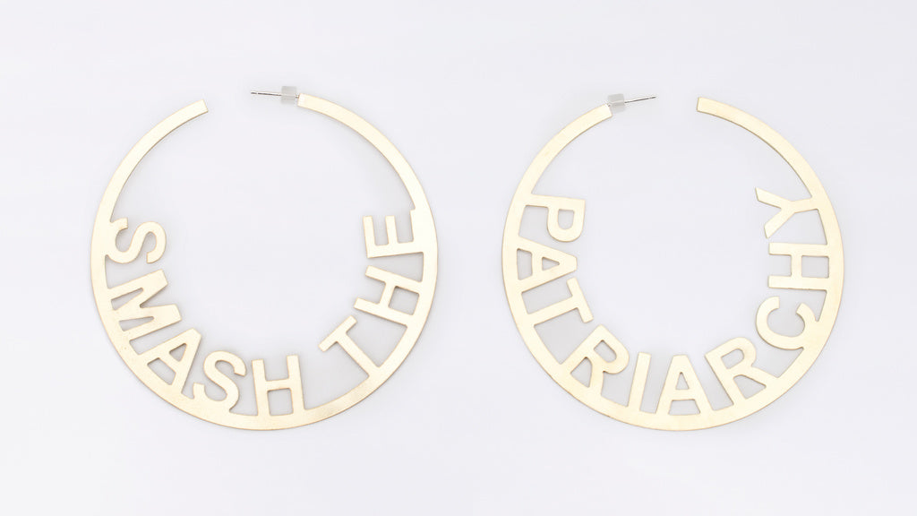 OHME SMASH THE PATRIARCHY HOOP EARRINGS