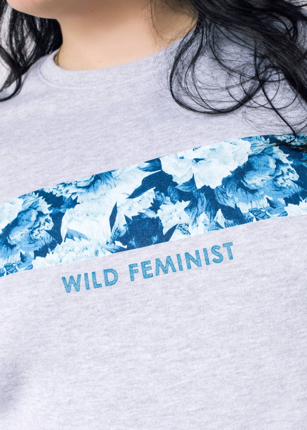 Wild Feminist Fleece Wildflower Crew