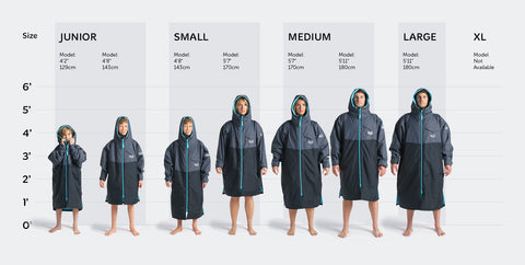Robie Robes Dry Series Size Guide Photo