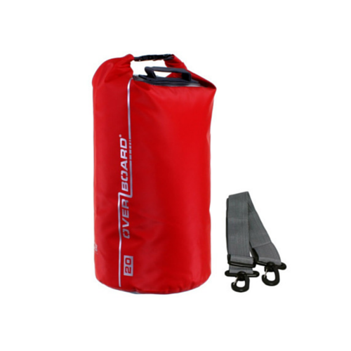 Overboard Waterproof Dry Tube Bag 20L red