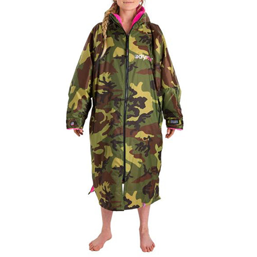 Dryrobe Advance  Changing Robe - Long sleeve - Camo/Pink - Surfdock Watersports Specialists, Grand Canal Dock, Dublin, Ireland