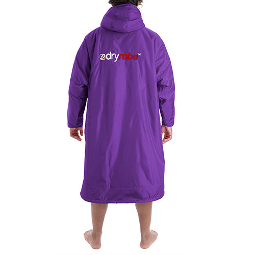 Dryrobe Advance Changing Robe Long Sleeved - Purple/Grey - Surfdock Watersports Specialists, Grand Canal Dock, Dublin, Ireland