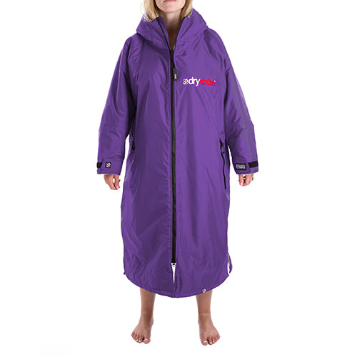Dryrobe Advance  Changing Robe - Long sleeve - Purple/Grey - Surfdock Watersports Specialists, Grand Canal Dock, Dublin, Ireland