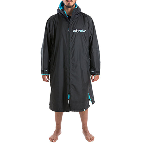 Dryrobe Advance  Changing Robe - Long sleeve - Black/Blue - Surfdock Watersports Specialists, Grand Canal Dock, Dublin, Ireland