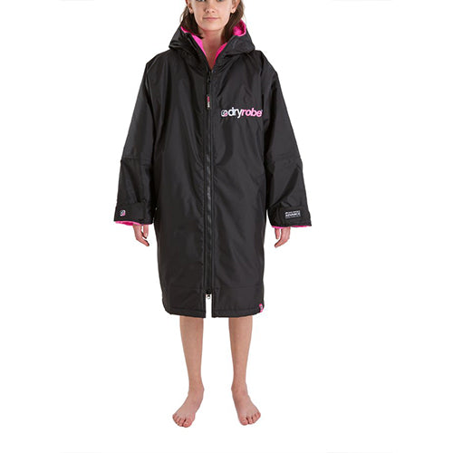Dryrobe Advance  Changing Robe - Long sleeve - Black/Pink - Surfdock Watersports Specialists, Grand Canal Dock, Dublin, Ireland
