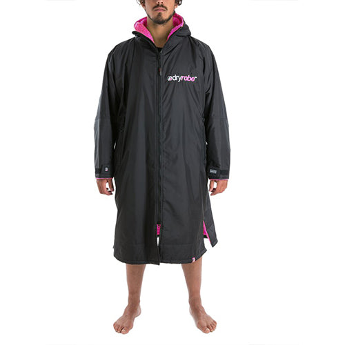 Dryrobe Advance Changing Robe LS - Black/Pink - Surfdock Watersports Specialists, Grand Canal Dock, Dublin, Ireland
