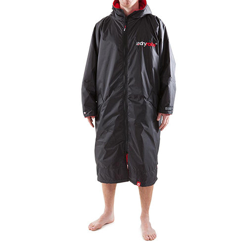 Dryrobe Advance  Changing Robe - Long sleeve - Black/Red - Surfdock Watersports Specialists, Grand Canal Dock, Dublin, Ireland