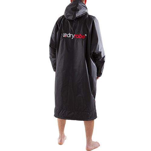 Dryrobe Advance Changing Robe Long Sleeved - Black/Red - Surfdock Watersports Specialists, Grand Canal Dock, Dublin, Ireland