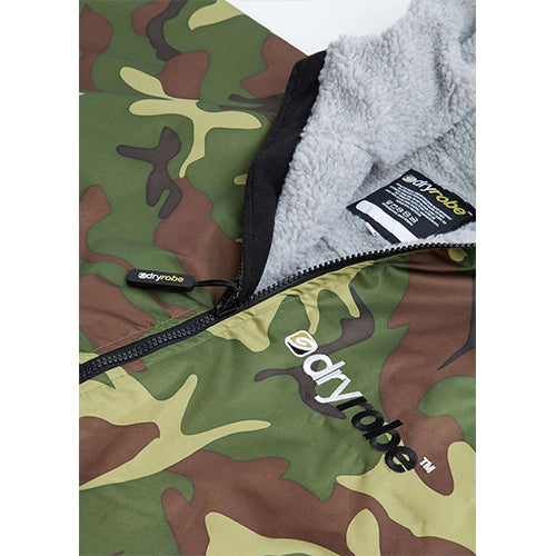 Dryrobe Advance Changing Robe LS - Camo/Grey - Surfdock Watersports Specialists, Grand Canal Dock, Dublin, Ireland