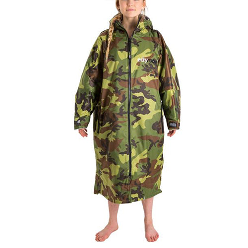 Dryrobe Advance  Changing Robe - Long sleeve - Camo/Grey - Surfdock Watersports Specialists, Grand Canal Dock, Dublin, Ireland