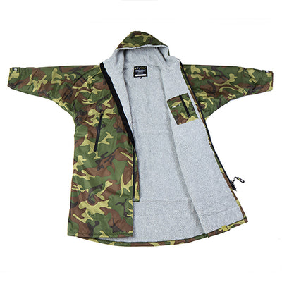 Dryrobe Advance Changing Robe Long Sleeved - Camo/Grey - Surfdock Watersports Specialists, Grand Canal Dock, Dublin, Ireland