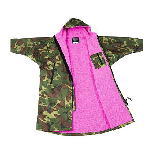 Dryrobe Advance Changing Robe LS - Camo/Pink - Surfdock Watersports Specialists, Grand Canal Dock, Dublin, Ireland