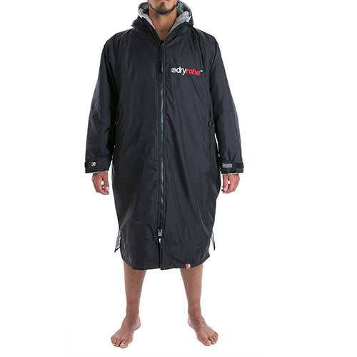 Dryrobe Advance  Changing Robe - Long sleeve - Black/Grey - Surfdock Watersports Specialists, Grand Canal Dock, Dublin, Ireland