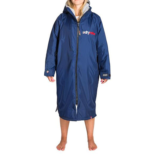 Dryrobe Advance  Changing Robe - Long sleeve - Navy/Grey - Surfdock Watersports Specialists, Grand Canal Dock, Dublin, Ireland