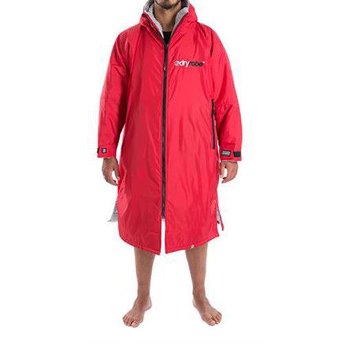 Dryrobe Advance  Changing Robe - Long sleeve - Red/Grey