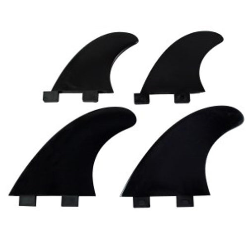 FCS Compatible Quad Fins Set - Black - Surfdock Watersports Specialists, Grand Canal Dock, Dublin, Ireland