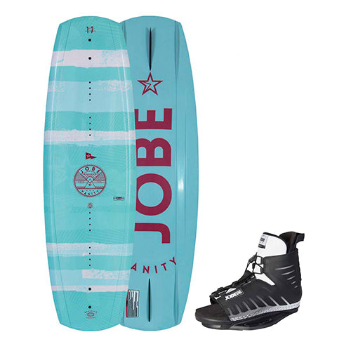 Jobe Vanity Wakeboard Women 136 & Unit Bindings - Surfdock Watersports Specialists, Grand Canal Dock, Dublin, Ireland