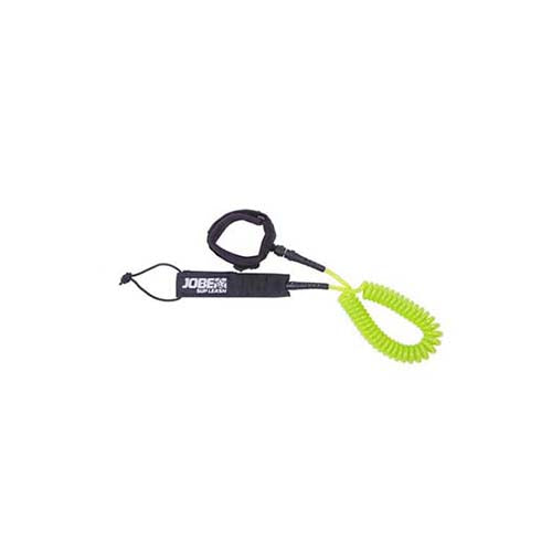 Jobe SUP Leash straight and coiled