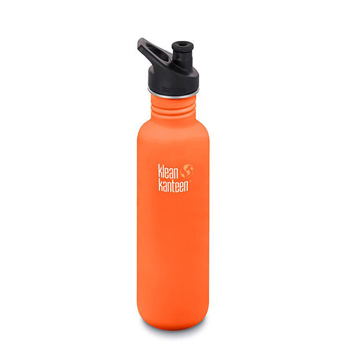 Klean Kanteen Single-wall Steel Bottle Classic - 800ml - Sport Cap - Surfdock Watersports Specialists, Grand Canal Dock, Dublin, Ireland