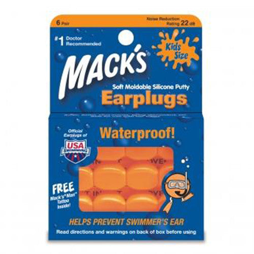 Mack's Soft Moldable Silicone Ear Plugs - Surfdock Watersports Specialists, Grand Canal Dock, Dublin, Ireland