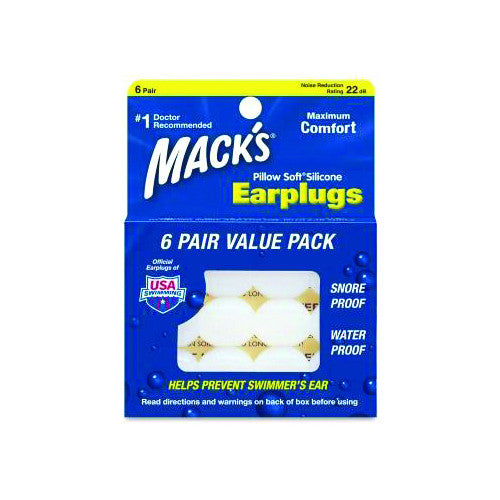 Mack's Pillow Soft Silicone Ear Plugs - Surfdock Watersports Specialists, Grand Canal Dock, Dublin, Ireland