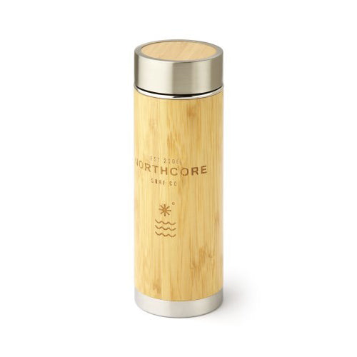 Northcore Bamboo Stainless Steel Thermos Flask 360ml - Surfdock Watersports Specialists, Grand Canal Dock, Dublin, Ireland