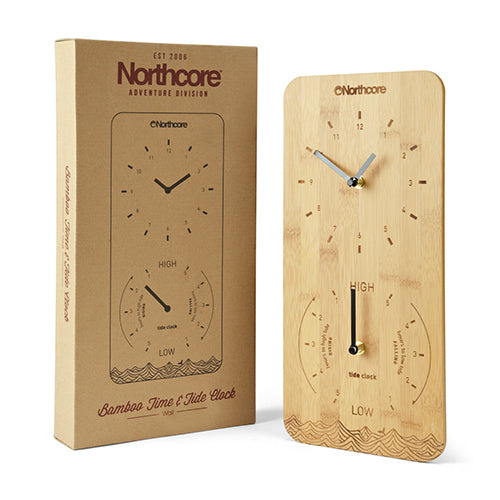 Northcore Time and Tide Bamboo Wall Clock - Surfdock Watersports Specialists, Grand Canal Dock, Dublin, Ireland