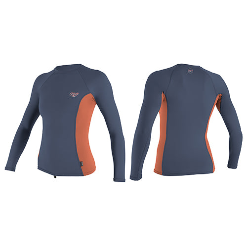 O'Neill Womens Skins L/S - EM3 - Surfdock Watersports Specialists, Grand Canal Dock, Dublin, Ireland