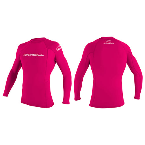 O'Neill Youth Basic Rash Vest Long Sleeved - Surfdock Watersports Specialists, Grand Canal Dock, Dublin, Ireland