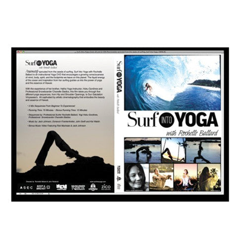 Surf Into Yoga with Rochelle Ballard - DVD - Surfdock Watersports Specialists, Grand Canal Dock, Dublin, Ireland