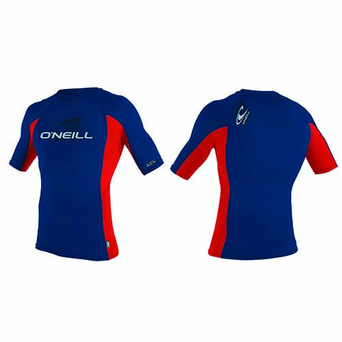 O'Neill Youth Skins S/S Crew Neck - blue/red - Surfdock Watersports Specialists, Grand Canal Dock, Dublin, Ireland