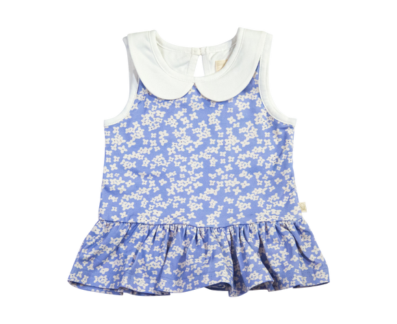Peyton Collard Peplum Top Cornflowers